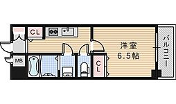 大阪府大阪市阿倍野区松崎町4の賃貸マンションの間取り