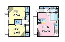 JR中央線 西荻窪駅 徒歩12分の賃貸テラスハウス 1階2LDKの間取り