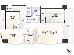 ランドステージ川崎[8階]の間取り