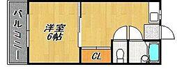 サンコービルII[2階]の間取り