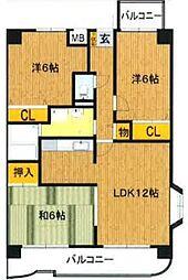 K-3[4階]の間取り