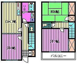[テラスハウス] 埼玉県川口市弥平1丁目 の賃貸【/】の間取り