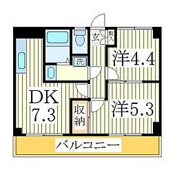 サンビレッヂI[1階]の間取り