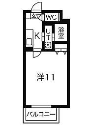 名鉄名古屋本線 名鉄名古屋駅 徒歩10分の賃貸マンション 6階1Kの間取り
