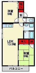 オーク高須 C棟[2階]の間取り