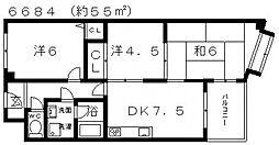 サンパティック富田林[304号室号室]の間取り