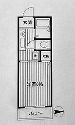 第二フラッツ横浜[103号室]の間取り