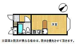 埼玉県鴻巣市小松4丁目の賃貸アパートの間取り