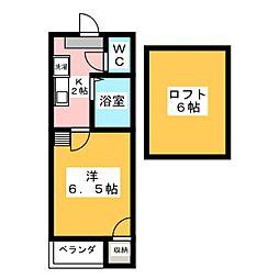 THE CASCADE[2階]の間取り