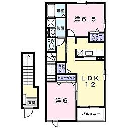 千葉県市原市うるいど南2丁目の賃貸アパートの間取り