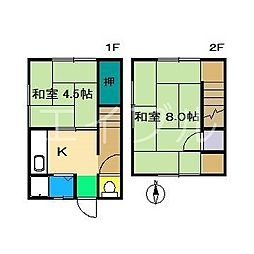[一戸建] 高知県高知市東秦泉寺 の賃貸【/】の間取り