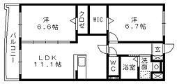 サンシャインユタカII[5階]の間取り