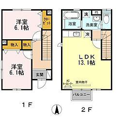 サニーコート松根II[1階]の間取り