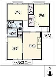 セジュール千歳[2階]の間取り