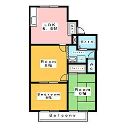 メゾンペア[2階]の間取り
