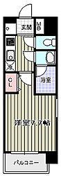 GROOVE四天王寺[6階]の間取り