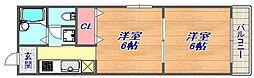 ルミエールモトヤマ[205号室]の間取り