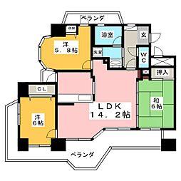モアグレース桜[12階]の間取り