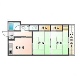 中野マンション[4階]の間取り