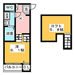 KUSAMA[1階]の間取り