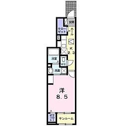 本三里塚アパート(025477101) 1階1Kの間取り