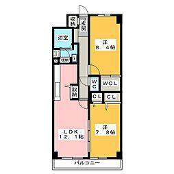 アリビオ鶴舞[2階]の間取り