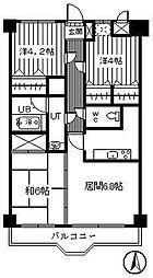 ケントパレス函館[805号室]の間取り