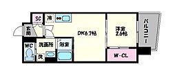 セレニテ谷九プリエ 6階1DKの間取り