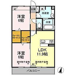 Recente和田A[202号室]の間取り