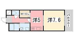 兵庫県姫路市飯田2丁目の賃貸マンションの間取り