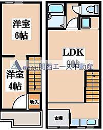 巽東連棟住宅[1階]の間取り