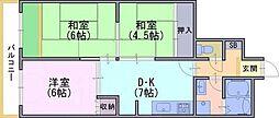 グリーンスカイ藤[1階]の間取り