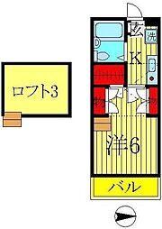 メゾンアサノ[205号室]の間取り