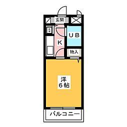持田レジデンス 3階1Kの間取り