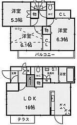 [一戸建] 神奈川県相模原市南区上鶴間6丁目 の賃貸【神奈川県 / 相模原市南区】の間取り