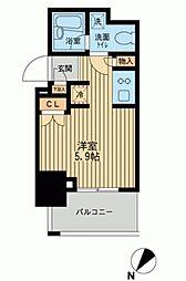 レジディア川崎[1101号室]の間取り