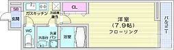 仙台市営南北線 泉中央駅 徒歩5分の賃貸アパート 2階1Kの間取り