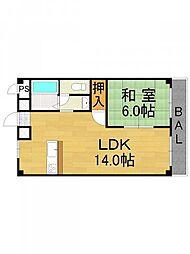 ミピアーチェ武庫之荘[3階]の間取り