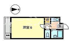 サンテラス池内[1階]の間取り