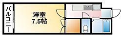 メゾンドール大網[1階]の間取り