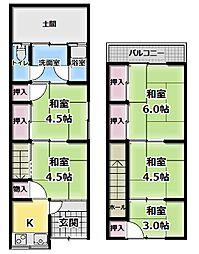 [一戸建] 大阪府守口市藤田町4丁目 の賃貸【/】の間取り