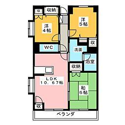 プランティーヌ高崎[2階]の間取り