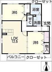 サンクレールT[2階]の間取り