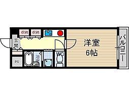 シェリール茨木[4階]の間取り