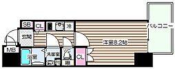 大阪府大阪市北区西天満6丁目の賃貸マンションの間取り