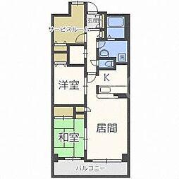 北海道札幌市中央区南十条西8丁目の賃貸マンションの間取り