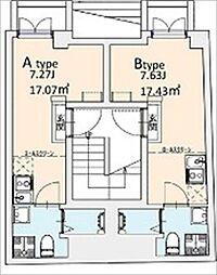 東京メトロ千代田線 湯島駅 徒歩2分の賃貸マンション 1階ワンルームの間取り