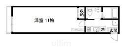 京阪本線 七条駅 徒歩3分の賃貸マンション 3階1Kの間取り
