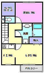 Green pierII[2階]の間取り