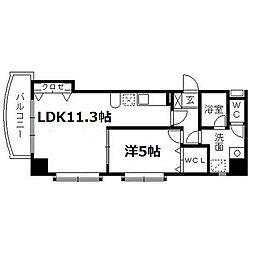ローレルコート田町[801号室]の間取り